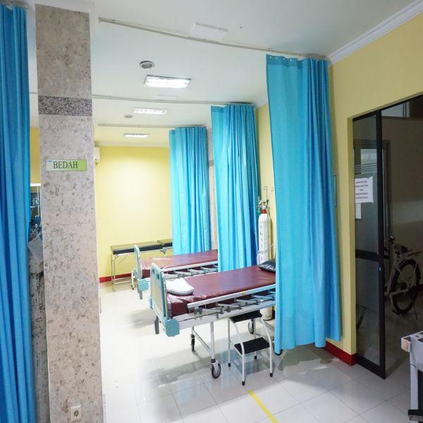 Gorden anti darah untuk rumah sakit