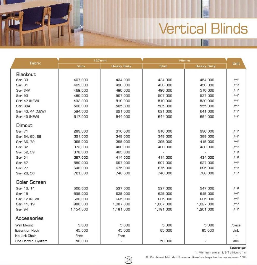 harga vertical blind onna gold