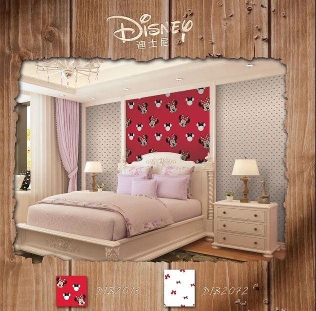 harga wallpapper mickey mouse