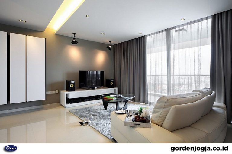 Trend Rumah Modern Gorden Dimout Mementingkan Cahaya Alami