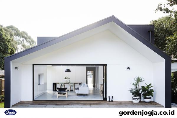 Meski Simpel, Desain Gorden Jendela Rumah Modern ini Indah